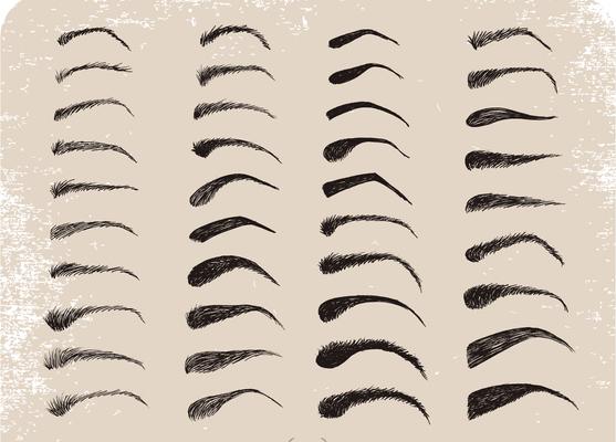 色々な眉型