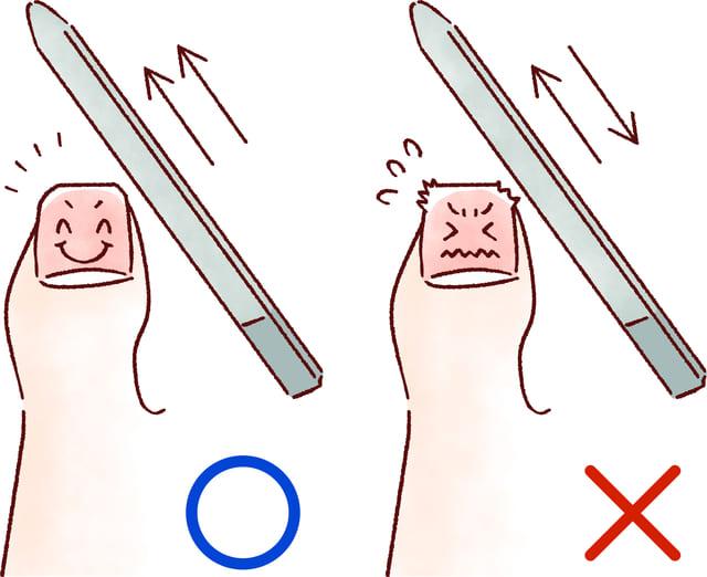 爪やすり やり方